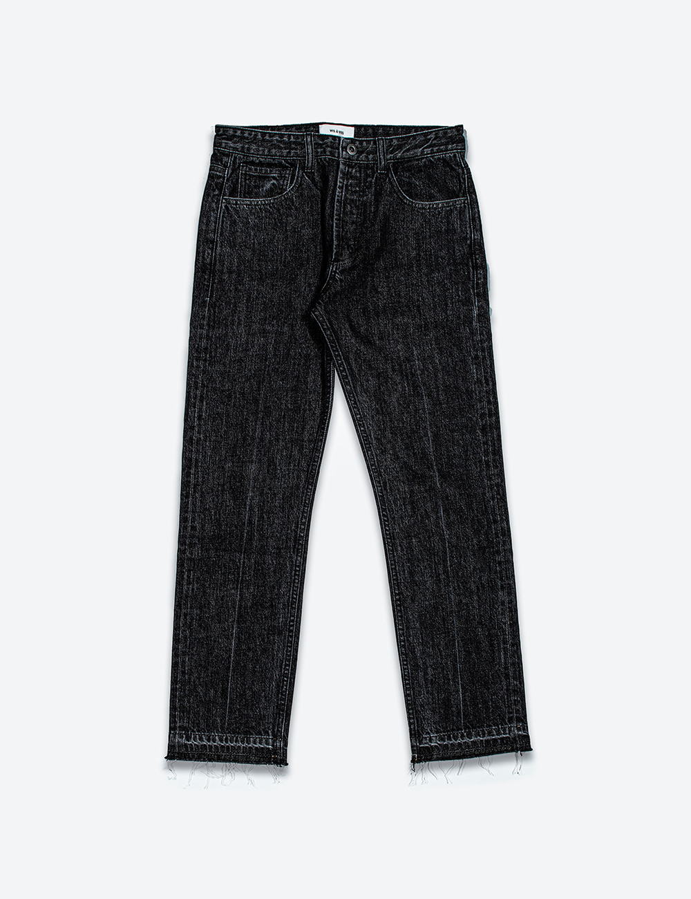 SELVEDGE STRAIGHT FIT DENIM (WASHED BLACK)