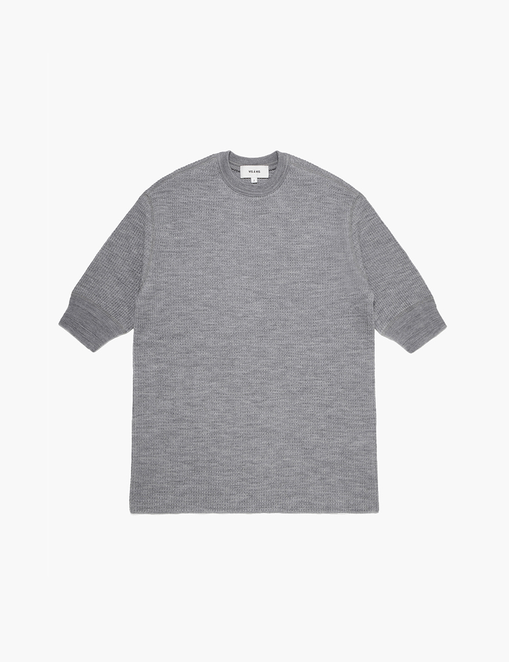 3/4 SLEEVE WOOL THERMAL TOP (GRAY)