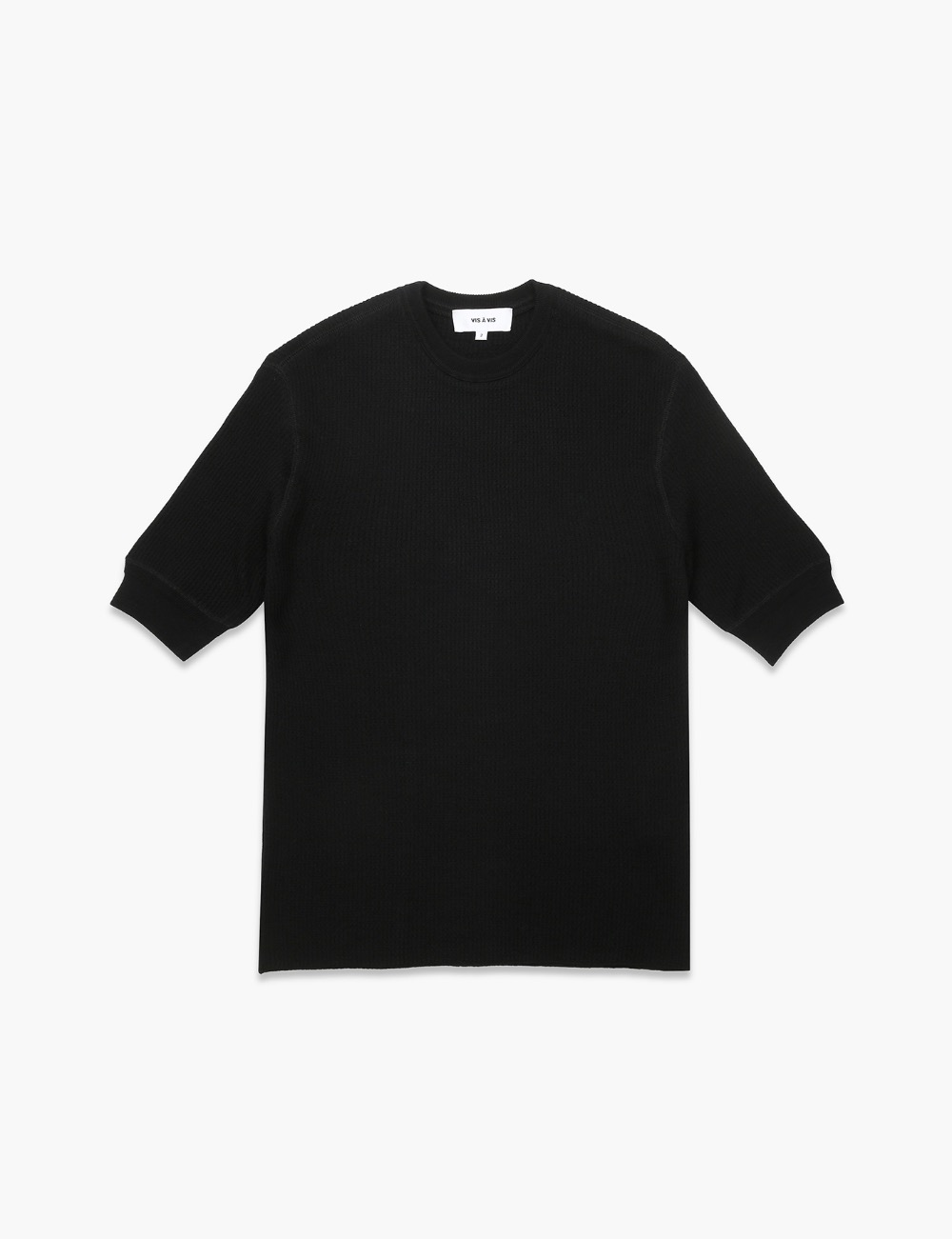 3/4 SLEEVE WOOL THERMAL TOP (BLACK)