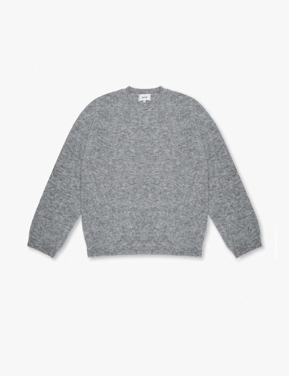 CREW NECK OVERSIZED SWEATER (GRAY)