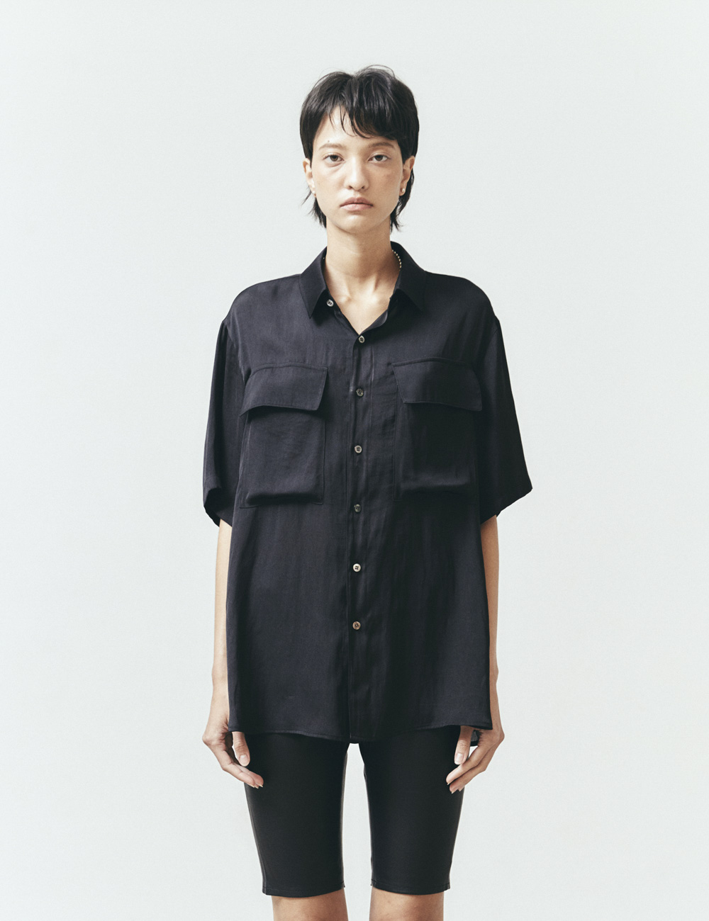 HALF-SLEEVE SHIRT (BLACK)