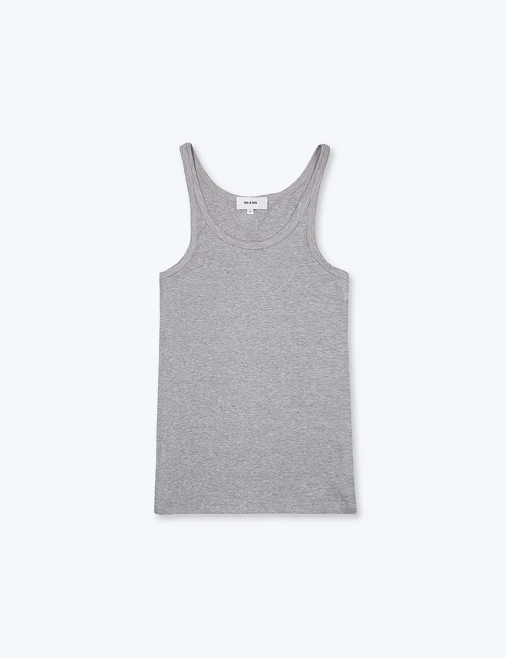 RIBBED TANK TOP (GRAY)