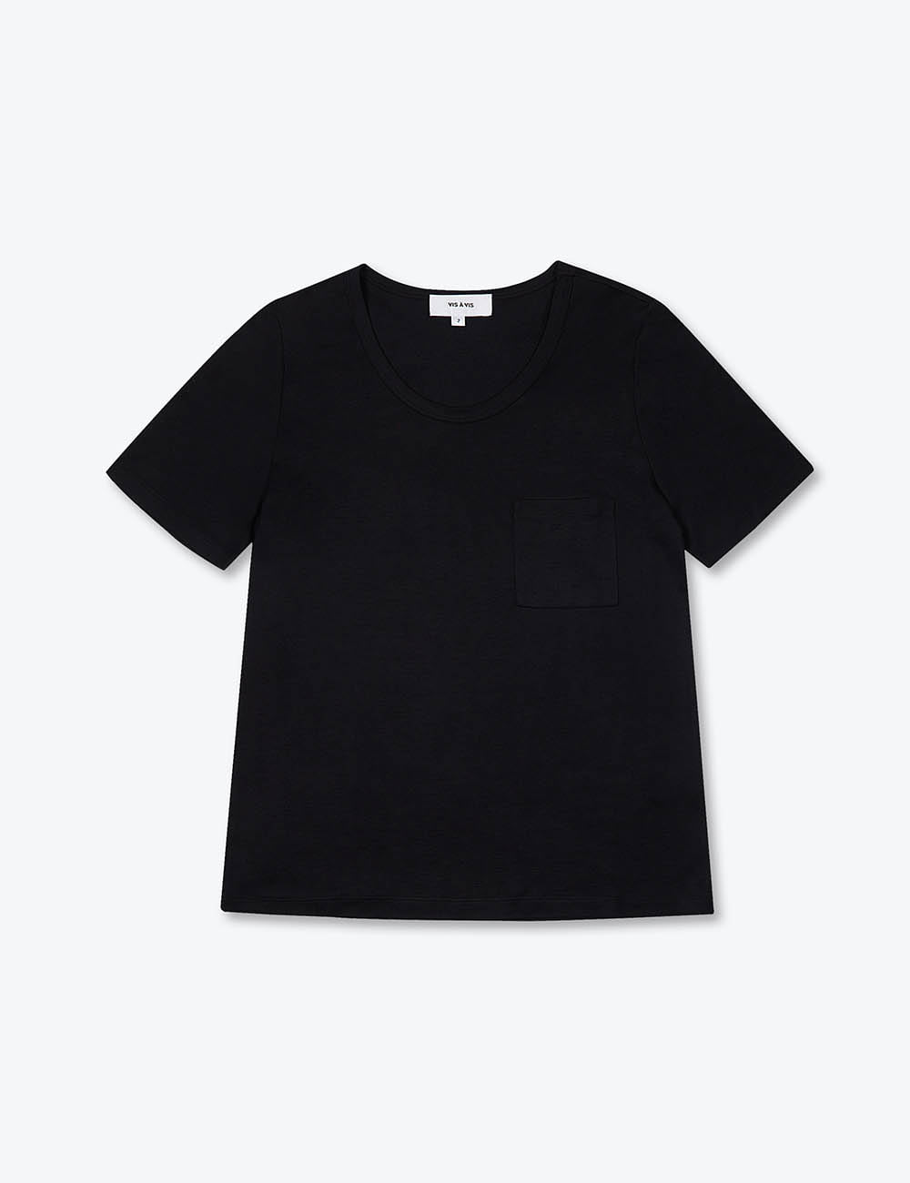 U-NECK T-SHIRT (BLACK)